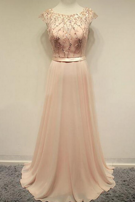 Chiffon Prom Dresses,Cap Sleeves Prom Dresses,Cheap Prom Dresses, Lovely Prom Dresses,Party Dresses ,Cocktail Prom Dresses ,Evening Dresses