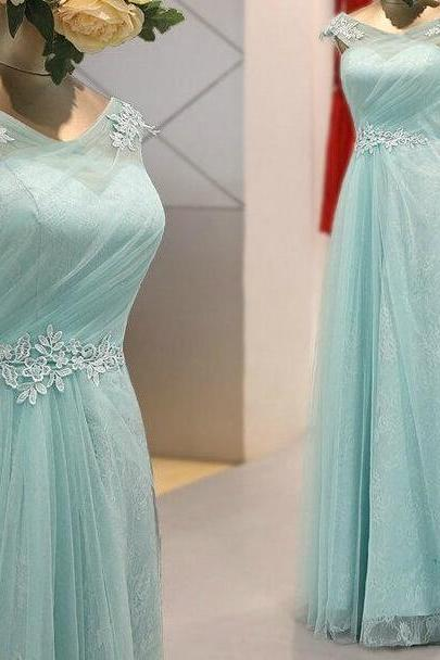 Light Mint Green Prom Dresses, Evening Dresses,New Fashion Prom Gowns,Elegant Prom Dress,Lace Prom Dresses,Tulle Evening Gowns,Modest Formal Dress
