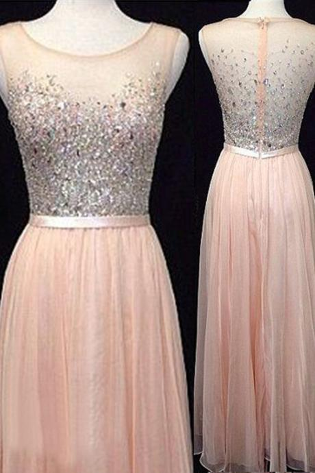 Prom Dresses,Backless Evening Gowns,Light Blush Pink Formal Dresses,Beaded Prom Dresses, Fashion Evening Gown,Simple Evening Dress,Beaded Party Dress,Pink Prom Gowns