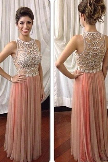 Blush Pink Prom Dresses,Sparkle Prom Gowns,Pink Prom Dresses, Party Dresses ,Long Prom Gown,Open Backs Prom Dress,Sparkle Evening Gowns