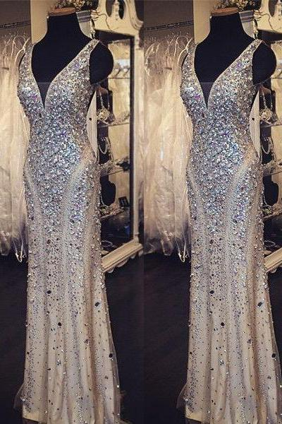 Champagne Prom Dresses,Tulle Prom Dress,Sexy Prom Dress,Mermaid Prom Dresses, Formal Gown,Sparkle Evening Gowns,Sparkly Formal Dress, Prom Gown For Teen