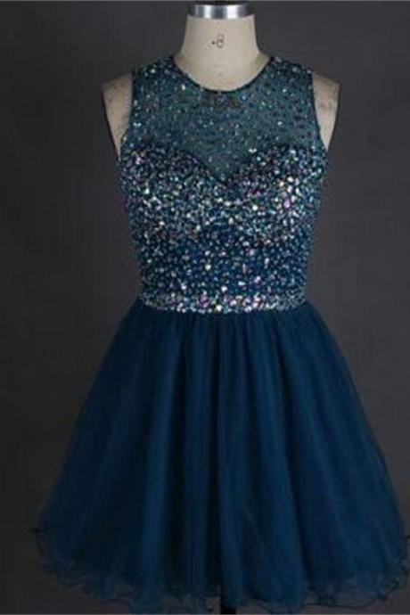 Short Homecoming Dress,Open back Homecoming Dress,Sparkly Homecoming Dress, Scoop Homecoming Dress,Homecoming Dresses,Cocktail Dresses,Graduation Dress