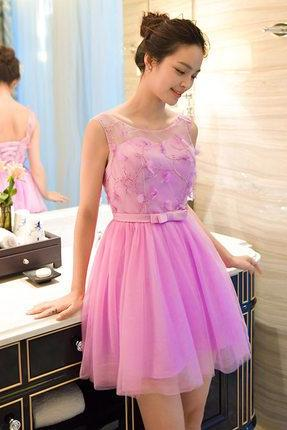 Short Homecoming Dress , Hot Pink Homecoming Dress,Tulle Homecoming Dress,Cute Homecoming Dress,Pretty Homecoming Dress,Homecoming Dresses,Cocktail Dresses