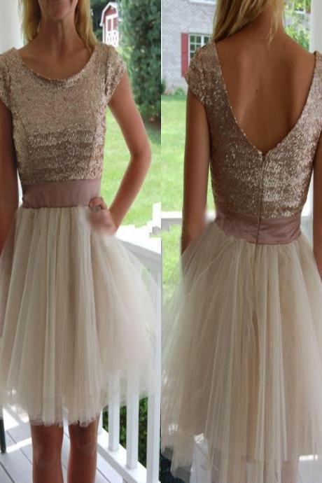 Short Homecoming Dress , V-back Homecoming Dress,Tulle Homecoming Dress,Sparkly Homecoming Dress, Scoop Homecoming Dress,Homecoming Dresses,Cocktail Dresses,Graduation Dresseses