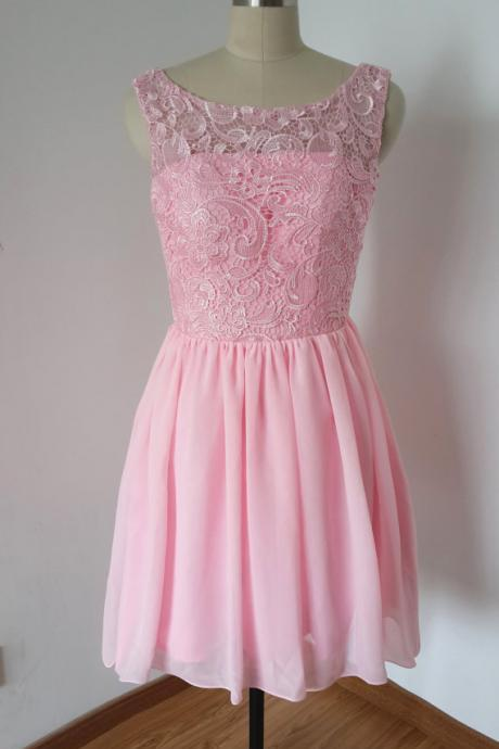 Short Homecoming Dress,Chiffon Homecoming Dress,Cheap Homecoming Dress,Cute Homecoming Dress,Pink Bridesmaid Dress ,Custom Homecoming Dress,Homecoming Dresses