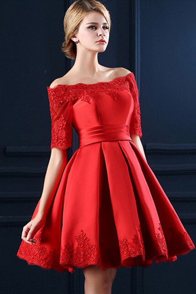 Homecoming Dresses,Junior Homecoming Dresses,Red long sleeve homecoming dress, 2016 Short homecoming dress, short homecoming dresses, 2016 homecoming dress, short prom dresses, homecoming dress