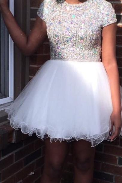 Gorgeous Handmade Homecoming Dresses,Sparly Short Homecoming Dresses,Pretty Cocktail Dresses