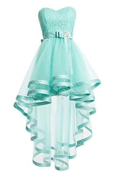 Mint Green Tulle Homeocming Dresses For Teens,Pretty Cheap Simple Short Prom Dresses,Lace Cocktail Dresses