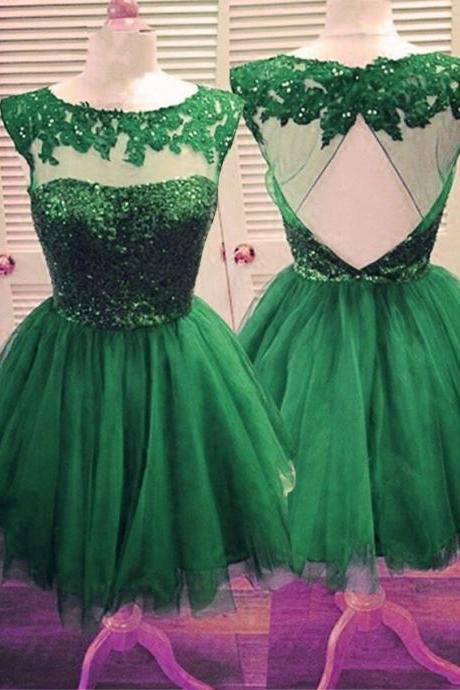 Tulle Homecoming Gowns,Backless Party Dress,Open Back Short Prom Gown,Sweet 16 Dress,Open Backs Homecoming Gowns