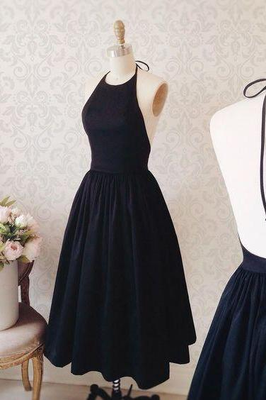 Evening Dresses, Prom Dresses,New Arrival Prom Dress,Cute prom dresses,A-line black cocktail dress for prom ,party dresses
