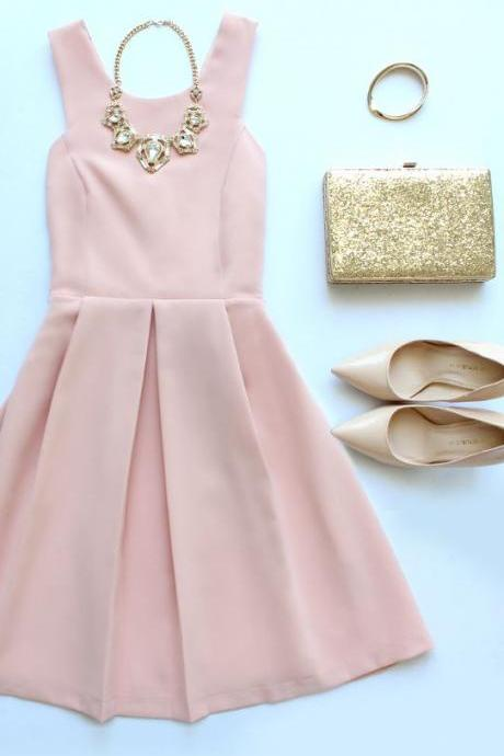 Evening Dresses, Prom Dresses,Homecoming Dresses,Blush Pink Homecoming Dresses,Sweet 16 Dress,Chiffon Homecoming Dress,Cocktail Dress