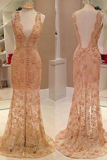 Evening Dresses, Prom Dresses,Champagne Prom Dresses,Charming Evening Dress,Champagne Prom Gowns,Champagne Prom Dress,New Prom Gowns,Champagne Evening Gown,Lace Party Dresses