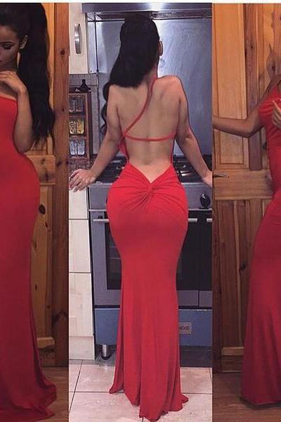 Evening Dresses, Prom Dresses,Party Dresses,Prom Dresses,Red Mermaid Prom Dress, Formal Gown,Sexy Evening Dress