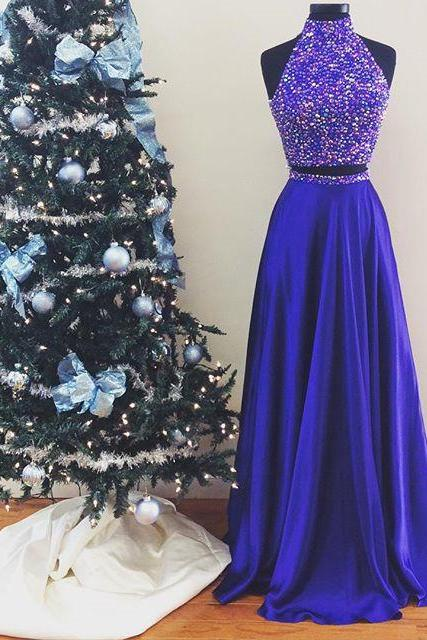 Evening Dresses, Prom Dresses,Party Dresses,New Arrival Prom Dress,Modest Prom Dress,Halter Prom Dresses,Prom Dresses,Long Prom Gowns 2017,two piece prom dresses