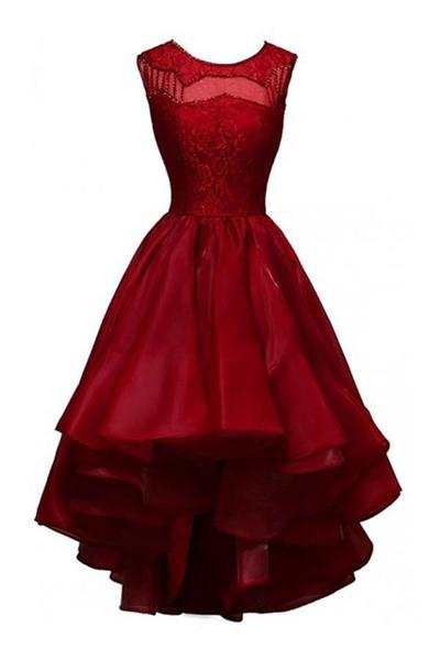 Evening Dresses, Prom Dresses,Party Dresses,Prom Dress,Glamorous High-low Organza Beading Prom Dresses ,Evening Gowns ,Party Dresses
