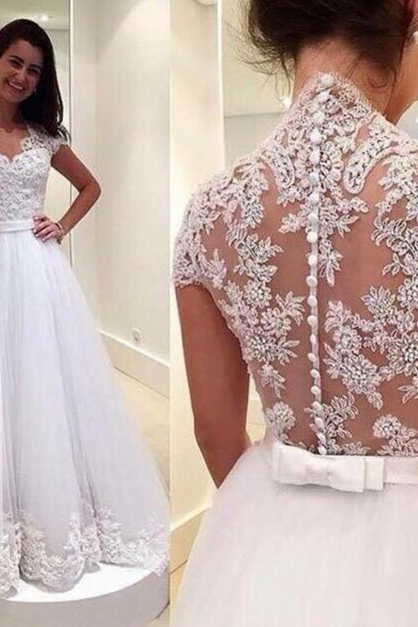 Wedding Dresses, Wedding Gown,lace wedding dress princess vintage bridal gowns
