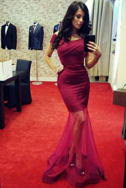 Evening Dresses, Prom Dresses,Party Dresses,Prom Dress,Prom Dresses,Mermaid Prom Dresses,Mermaid Formal Gowns, Tulle Prom Dresses Long,Burgundy Prom Dress,Mermaid Burgundy Party Dresses,Sexy Prom Dresses,Prom Dresses