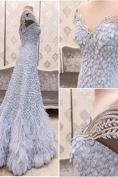 Evening Dresses, Prom Dresses,Party Dresses,New Arrival Prom Dress,Modest Prom Dress,Flower wedding dress,blue wedding dress,light blue wedding dress,wedding dress