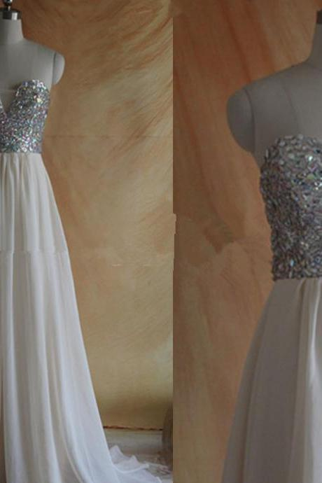 Evening Dresses, Prom Dresses,Party Dresses,Prom Dress, Prom Dresses, Prom Dresses,Sparkle Ivory Long Beadings Prom Dresses 2016, Ivory Prom Dresses, Long Prom Dresses 2016, Prom Gowns, Evening Dresses