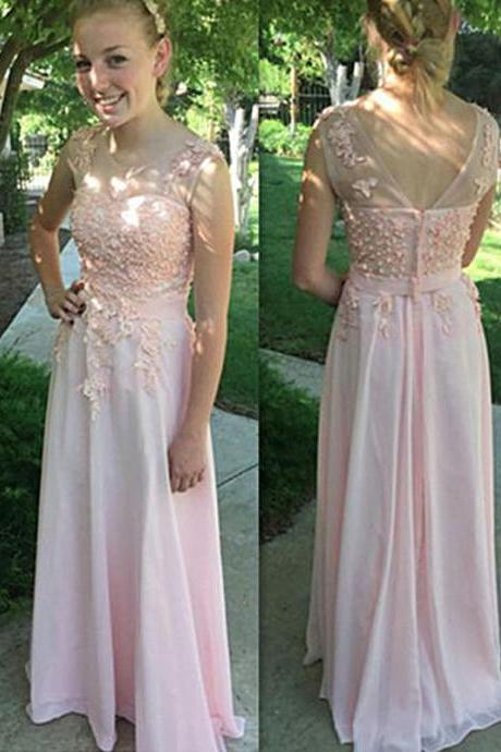 Evening Dresses, Prom Dresses,Party Dresses,Prom Dress, Prom Dresses, Prom Dresses,Cute Pink Lace Long Prom Dresses Evening Gowns Plus Size Dress
