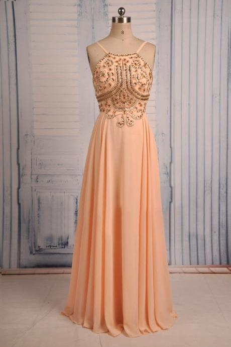 Evening Dresses, Prom Dresses,Party Dresses,Prom Dress, Prom Dresses, Prom Dresses,Prom Dresses,Beautiful Beaded Long Spaghetti Straps Backless Prom Dresses 2016, Prom Dresses 2016, Evening Gowns 2016