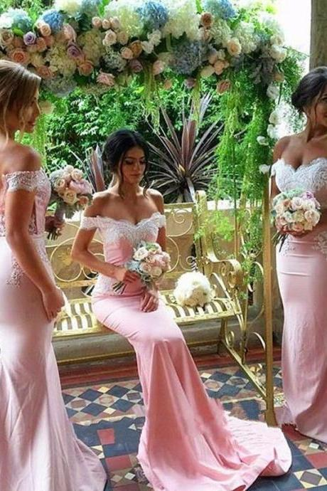 Off Shoulder Sexy Bridesmaid Dresses,Beautiful Custom bridesmaid dress, Wedding Party Dresses,Long Bridal Gowns