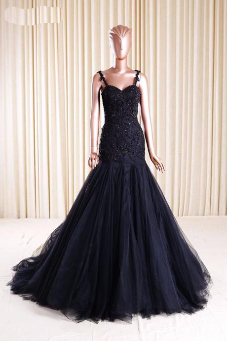 Evening Dresses, Prom Dresses,Party Dresses,Mermaid Prom Dresses,Black Lace Prom Dress,Prom dress,Modest Evening Gowns,Cheap Party Dresses,Graduation Gowns