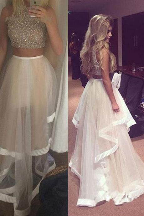 Evening Dresses, Prom Dresses,Party Dresses,Prom Dresses, 2 Piece Prom Gown,Two Piece Prom Dresses,2 Pieces Party Dresses,Evening Gowns,Formal Dress,Evening Gown For Teens