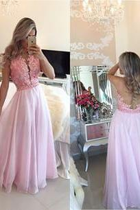 Evening Dresses, Prom Dresses,Party Dresses,Prom Dresses, Prom Dresses,Evening Dress,Party Dresses,New Arrival Prom Dress,Pink lace long prom dresses,elegant A-line lace long evening dresses,pink formal dress,fashion dress for teens