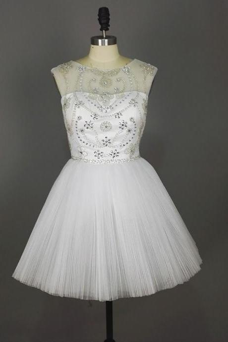Graduation Dresses,White Graduation Dresses,prom dresses,Short White Prom Dresses,Short Prom Dresses,Organza Prom Dresses,Cheap prom dresses,Short Evening Dress, Homecoming Dresses, Cocktail Dresses,Formal Gowns