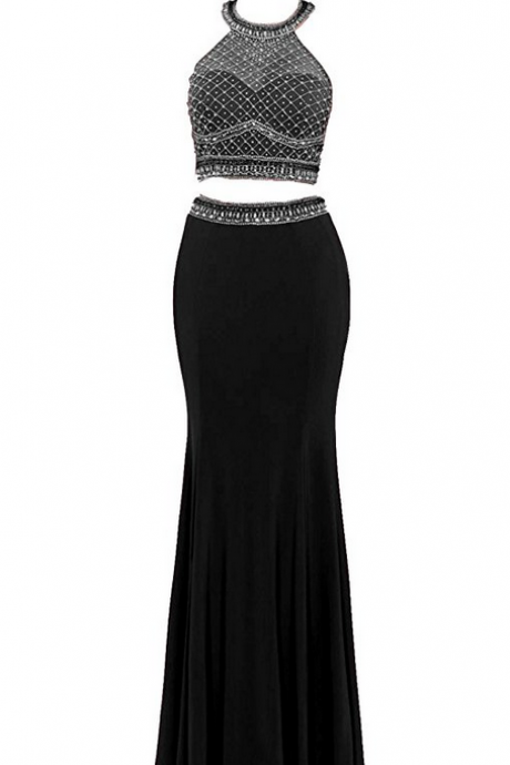 Two Piece Prom Dresses Long Evening Gowns for Women Formal