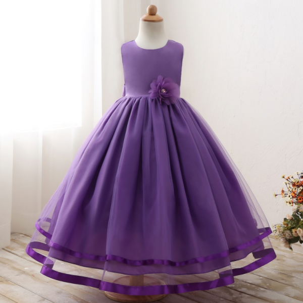 Simple Princess Gowns Girl Birthday Wedding Party Formal Flower Girls Dress baby Pageant dresses 436