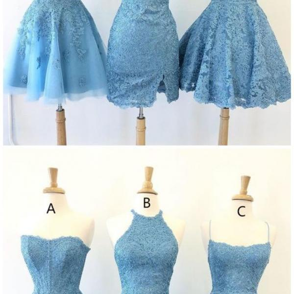 Blue Lace Homecoming Dresses