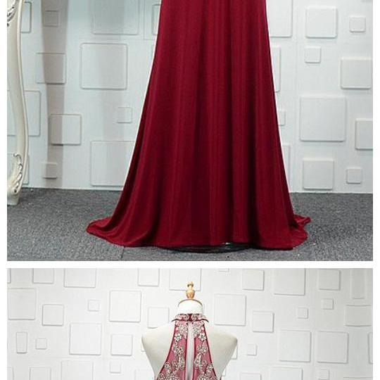 Red Newest Tulle & Spandex High Collar Mermaid Evening Dresses With Beadings