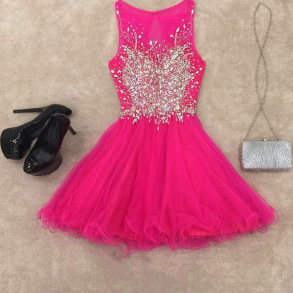 Cute Prom Dress,Lovely Prom Dress,Mini Party Gown,Party Dress,Tulle Prom Dress