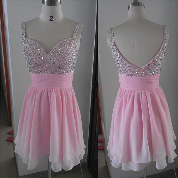 Beading Spaghetti Straps Homecoming Dresses ,Short-Mini Graduation Dresses ,Sweetheart Homecoming Dresses ,Graduation Dress Homecoming Dress