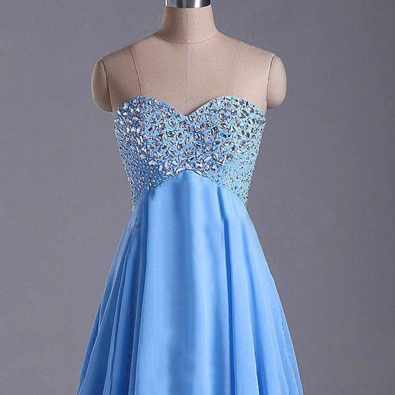Cute Light Blue Short Beadings ,Prom Dresses , Homecoming Dresses, 2016 Beadings Prom Dresses ,Graduation Dresses