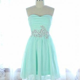 2016 Beading Short/Mini Homecoming Dresses, Party Dresses, Sweetheart Homecoming Dresses, Real Made Graduation Dresses On Sale