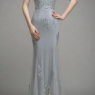 Custom Made Hand Made Backless Prom Dresses ,2016 Fishtail Evening Dresses, Noble Formal Dresses