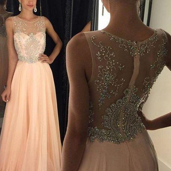 Newest Long Cap Sleeves Beading Prom Dresses,Modest Prom Dresses,Pretty Evening Dresses