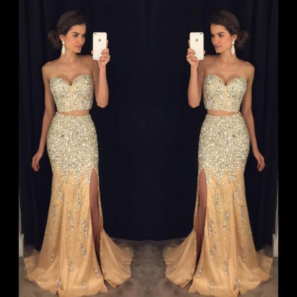 Evening Dresses, Prom Dresses,Party Dresses,New Arrival Prom Dress,Modest Prom Dress,sparkly prom dresses,pageant gowns,two piece prom dresses,mermaid evening dress,long prom dresses 2017