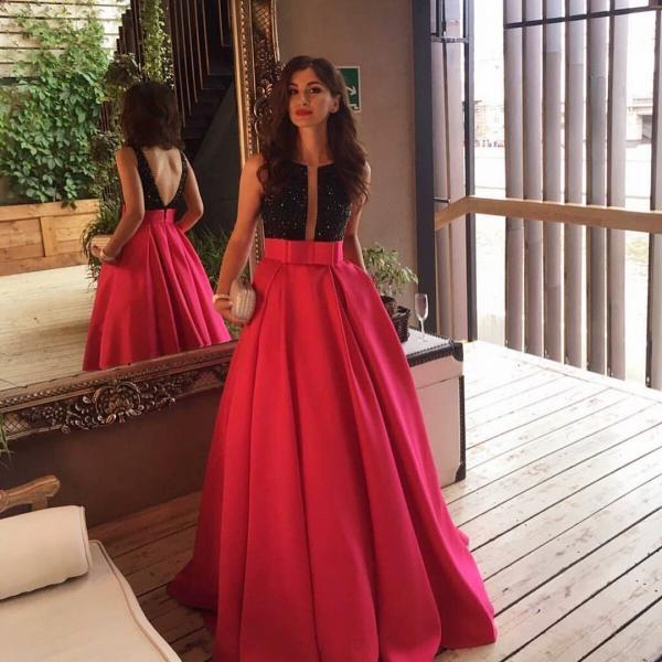 Evening Dresses, Prom Dresses,Party Dresses,New Arrival Prom Dress,Modest Prom Dress,burgundy long satin ball gowns ,beaded prom dresses 2017,sparkly evening gowns,floor length party dress