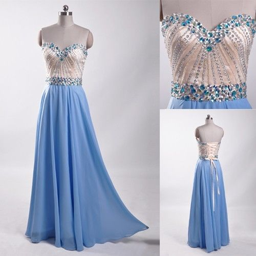 Evening Dresses, Prom Dresses,Party Dresses,Prom Dress, Prom Dresses, Prom Dresses,Classic blue beaded prom dress, formal party bridesmaid prom dress ,sweetheart lace floor-length wedding bridesmaid dresses